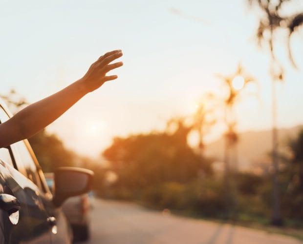 zonnebrand in de auto